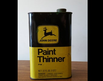 Rare Vintage John Deere paint thinner can