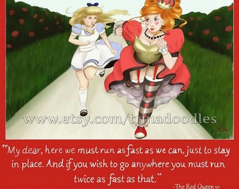 Alice and the Red Queen running