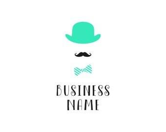 Logo, Premade logo, Logo design, Custom logo, Custom logo design, Business logo, Branding, Premade logo design, Logo moustache, Logo theater