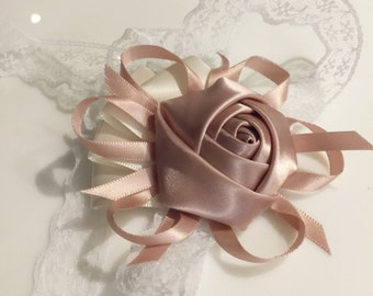 Wedding Wrist Corsage  | Vintage Inspired | Rhinestone, brooch accessories