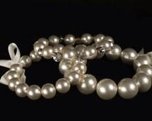 Pearl Tiara.Jumbo pearl beads crown. Ready to ship.