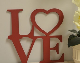 Love Wood Sign, Sign Love, Valentine Decor, Custom Made Home Decor, Rustic