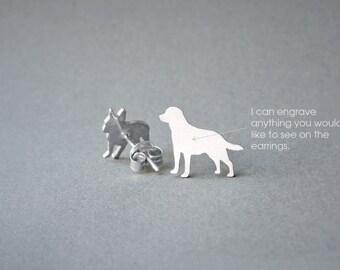 LABRADOR NAME Earring - Labrador Retriever Name Earrings - Personalised Earrings - Dog Breed Earrings - Dog Earring