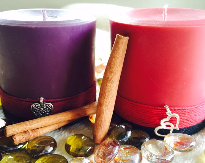 Spell Candle-Wiccan Candle-Soy Candles-cinnamon scented candle-ritual candle-altar candle-charmed candles-candle set-spell candles-natural