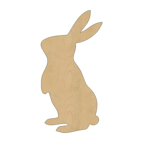 items similar to bunny rabbit cutout shape laser cut. Black Bedroom Furniture Sets. Home Design Ideas