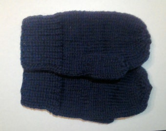 Wool  knitted kids mittens