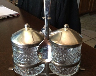 2 Condiment Jars with Caster