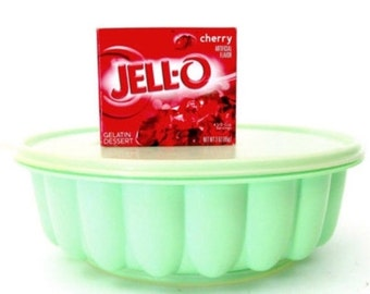 Christmas in July Vintage Tupperware Mint Green Jello Mold 1970's