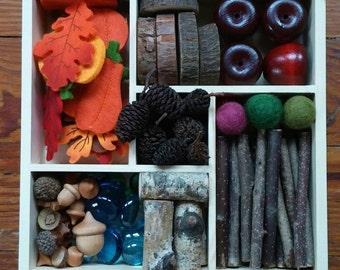 Montessori, Reggio, Autumn Loose Parts