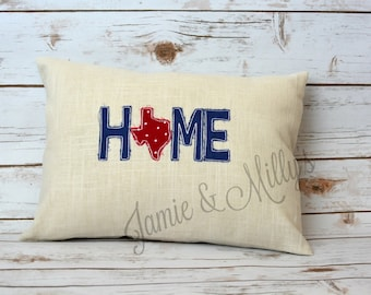 embroidered State HOME pillow cover | cute home decor | hostess gift | throw pillow
