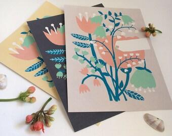 Set of 3 greeting cards: Onnea, onnea! Congratulations!