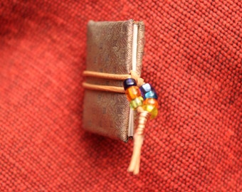 Tiny Booklet Brooche