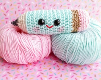 Pencil amigurumi crochet for a decoration kawaii in your office or bedroom child d