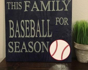 We inturrupt this family for baseball season