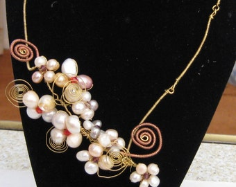 Pearl Garden Vine Necklace