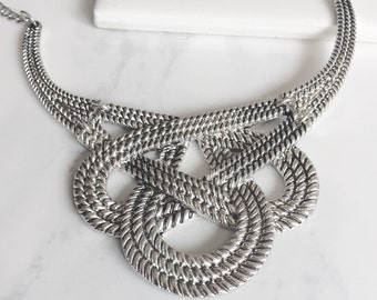 Antique Silver Statement Bib
