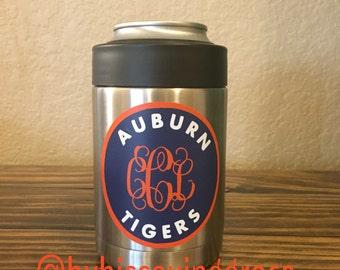 Auburn Tiger w/Vine Monogram