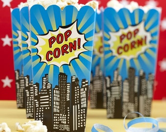 Popcorn Boxes - Pop Art Superhero Party