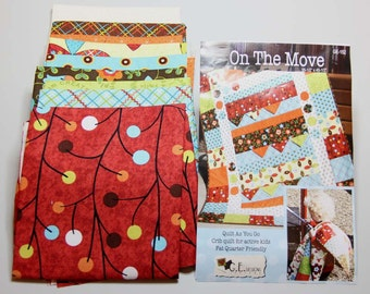 Quilt kit - On The Move - Quilt as you go - packaged by G.E. Designs