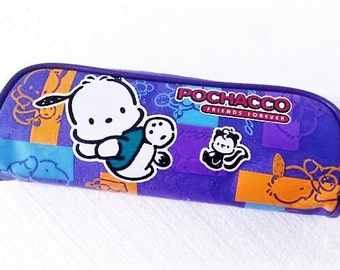 Vintage Sanrio Pochacco Friends Forever Zippered Pencil Case or Pencil Pouch