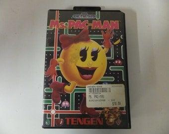 Ms. Pac-Man Original Sega Genesis Vintage Video Game No Manual