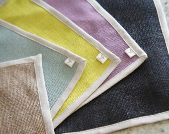 Linen placemat/100% 2 Layers Linen/Wedding Table Linen/Eco friendly gift//Table top/ Placemat Set of 6