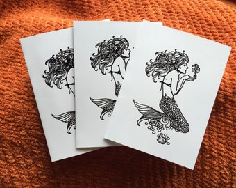 Mermaid Stationary - Set of 3
