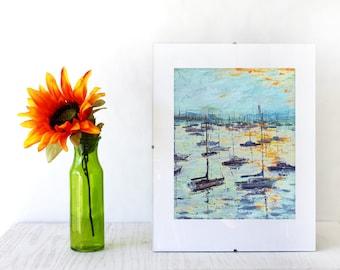 Monterey bay digital print, 8x10 digital download, beach print, wall art, beach decoration