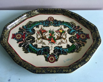 Unique large vintage metal tray midcentury beautiful large vintage tray