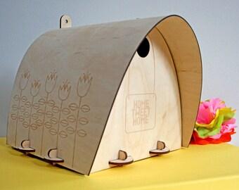 Bird Box Kit - Modern bird box - Build Your Own - Modern Scandi - Garden gift - Scandinavian design - Gift for mum's - mother's day -