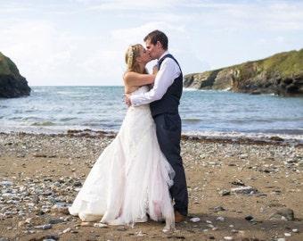 Lacey Daisy Whimsical fairy Alternative Handmade Wedding Dress