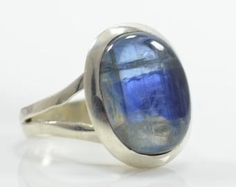 Kyanite Ringe, Kyanite Ring Silberringe, Silber Kyanite Ringe, Silber Edelstein Ringe, Blaue Kyanite Ringe, Edelstein Kyanite Silberringe