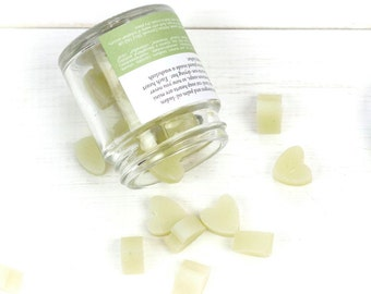 Mini Travel Soap Hearts - Vetiver, Cedar and Bergamot with Green Illite Clay (The Woods) - Palm Oil-Free and Cruelty-Free