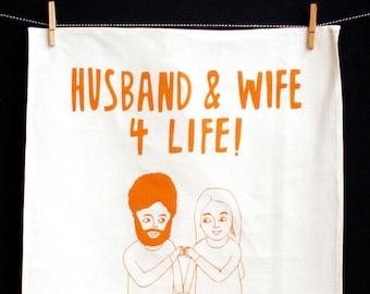 Tea Towel - Husband And Wife For Life