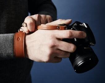 Leather Camera DSLR Adjustable Wrist Strap