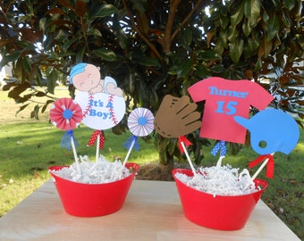 Baseball Theme Baby Shower Decoration Centerpiece Combo