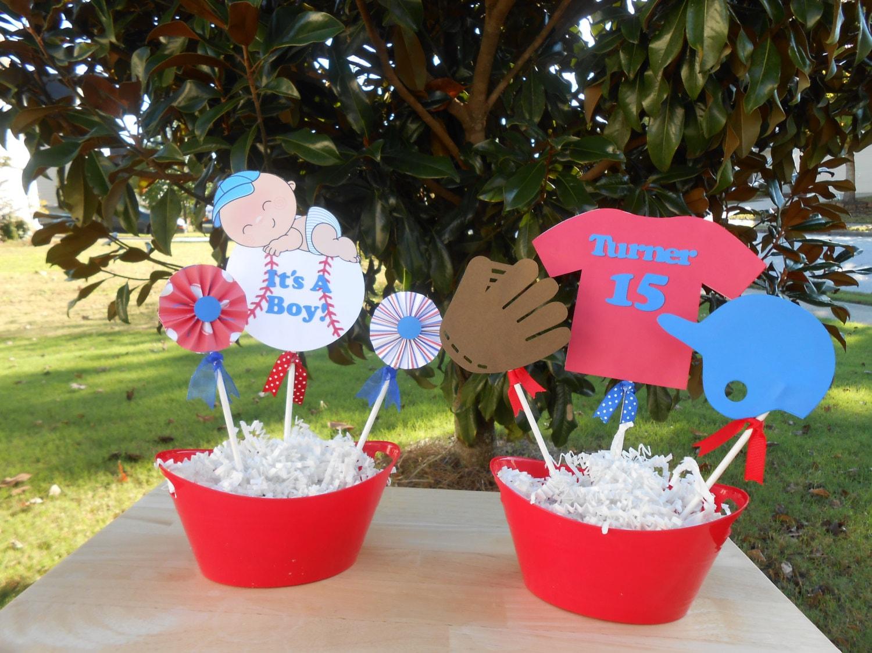 baseball theme baby shower decoration by craftypolishgal on etsy