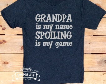 Grandpa shirt, gift idea, Grandpa is my name, Father's Day gift, Dad t-shirt, man gift