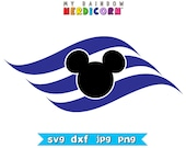 Disney Cruise logo stencil clipart file in svg png jpg dxf for Cricut & Silhouette and Disney vacation digital scrapbook