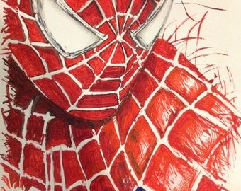 Spider-Man art print, collectable A3 poster, 11x17