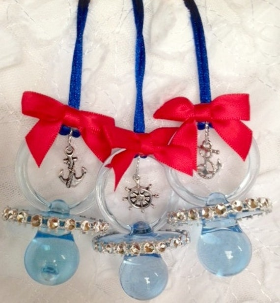12 sailor baby shower pacifiers by designsbyflores on etsy