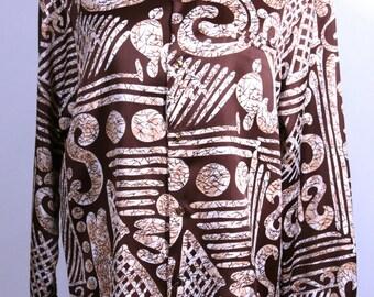 Men's  Pomare Long Sleeve Hawaiian Shirt