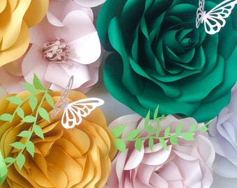 Large Paper Flowers - Arch Flowers - Wedding Backdrop - Wedding Decorations - Wedding Floral Design