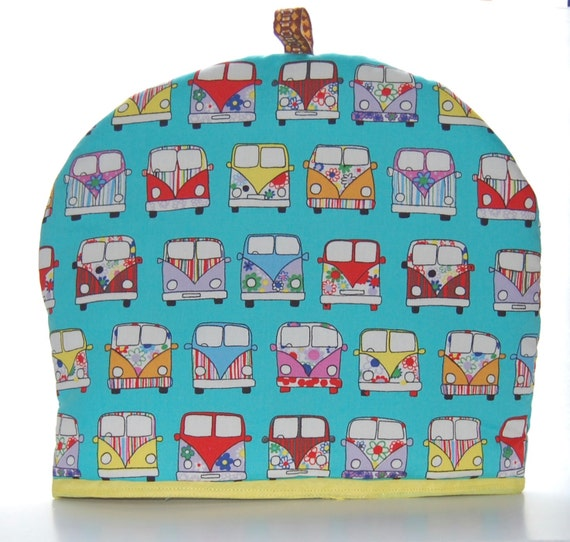Campervan Tea Cosy- Handmade- 2 Sizes Available- 22cm and 27 cm