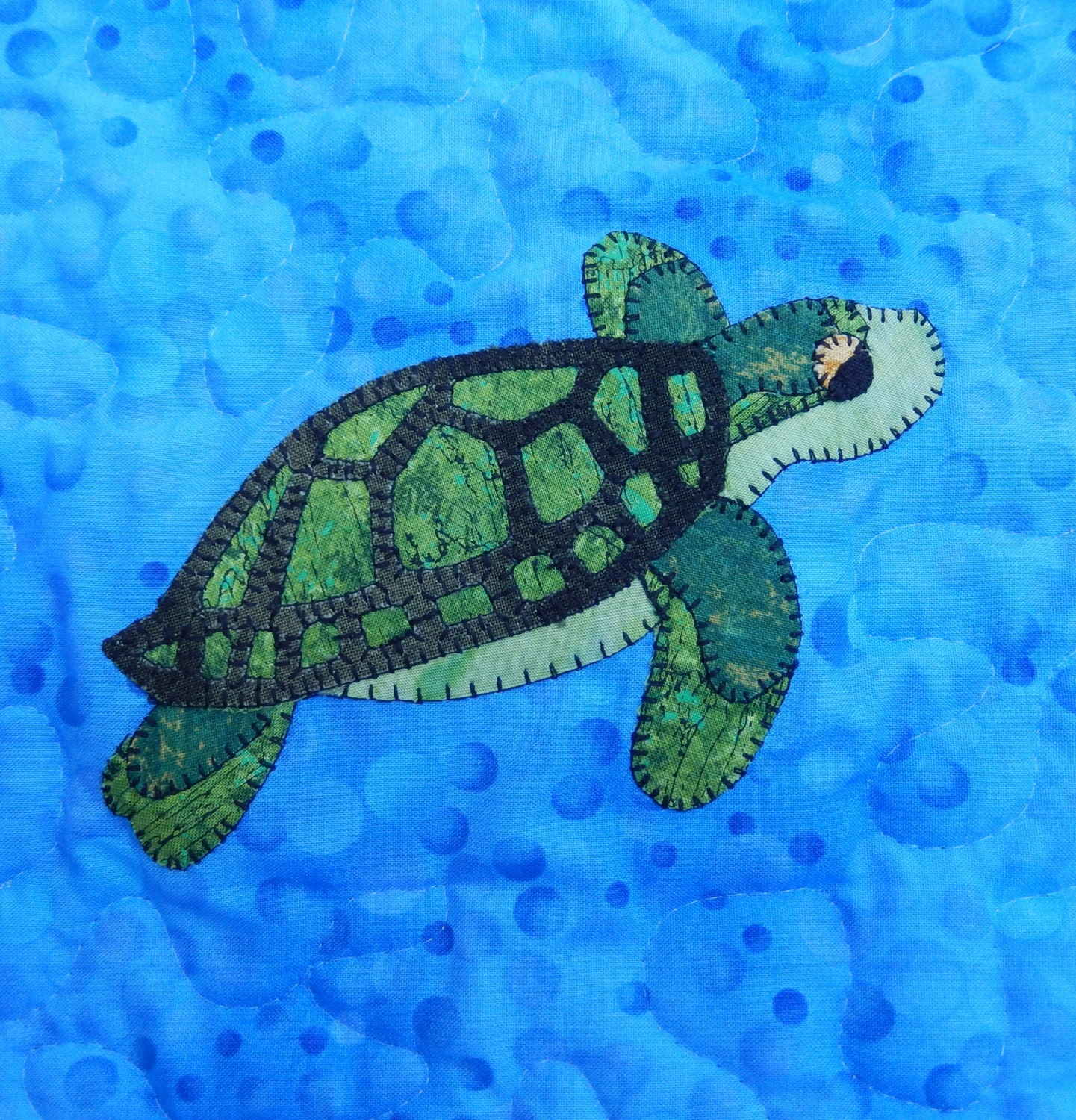 Pacific Green Or Black Sea Turtle Pdf Applique Pattern Marine