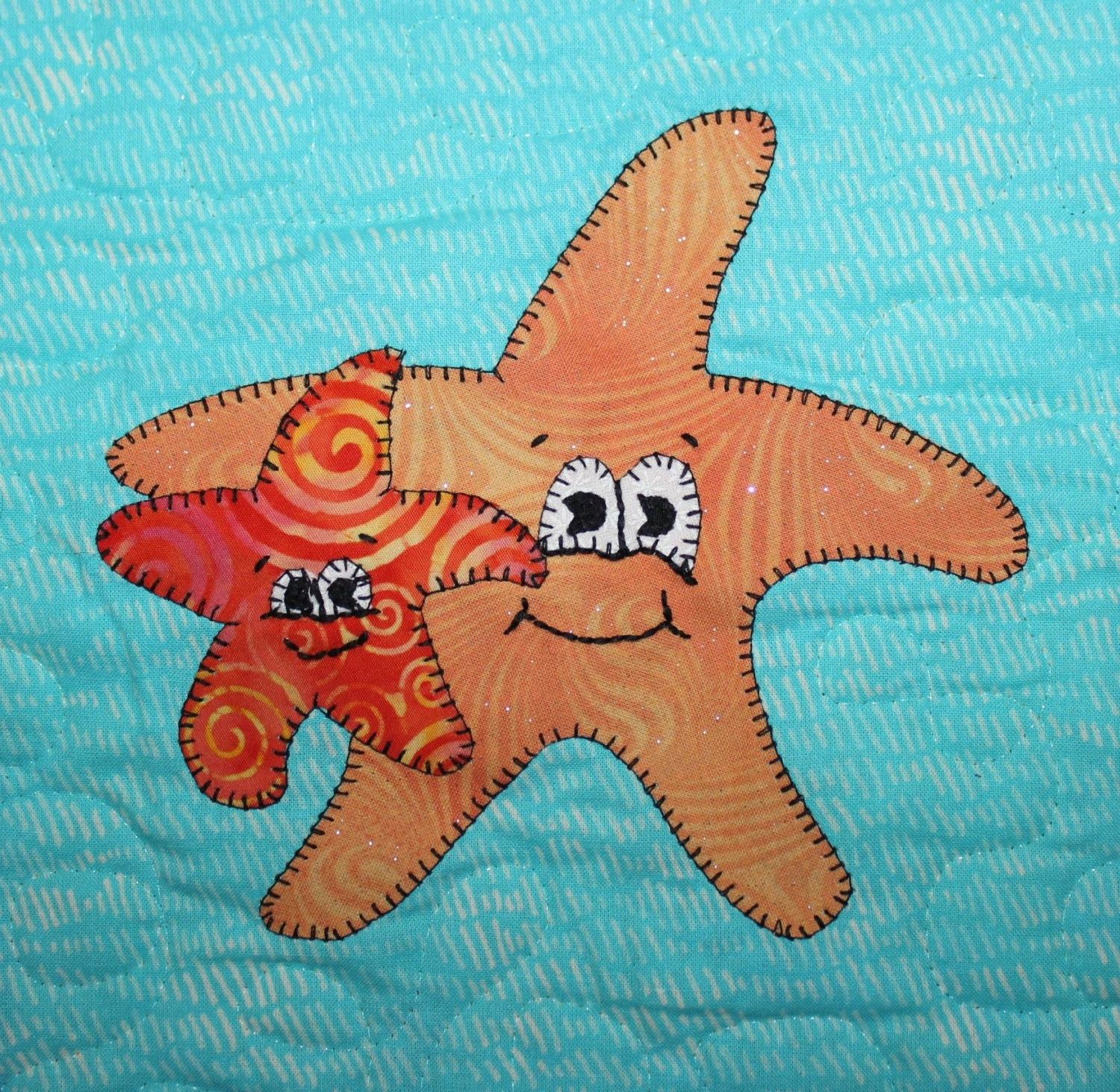 Sea stars PDF applique pattern Mother s Day ocean