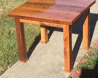 Kitchen table - Barnwood breakfast table - farmhouse table - small dining table