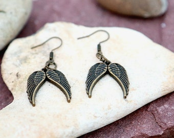 Angel Wing Earrings Statement earring Angel Wing Jewelry Handmade Jewelry Gift