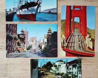 Lot of vintage San Francisco postcards, large-sized!