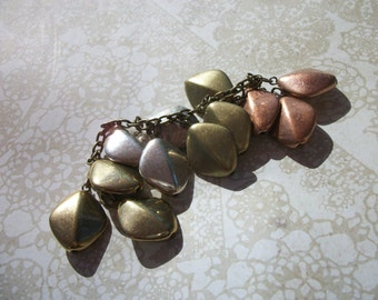 Salvaged Charm Braclet Section - Five Inch Length (Silver, Brass and Gold ColoredCharms)